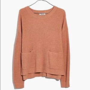 MADEWELL Brown Patch Pocket PullOver SzM